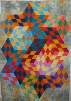 Quilt illusions | ... patchwork illusions class and presenting my quilts of illusion lecture
