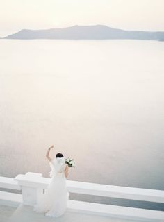 Overlooking the sea in Santorini. Photography: Jen Huang http://jenhuangphoto.com