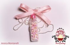 Jeyam Fimo Creations - Marshmallows bottle