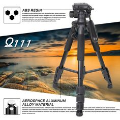36.99$  Buy here  - Professional Aluminum Alloy SLR Three Camera Folding Portable Tripod with Ball Head Bag Travel for DSLR Black Q111
