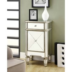 Shop for Mirrored 1-drawer Accent Cabinet. Get free shipping at Overstock.com - Your Online Furniture Outlet Store! Get 5% in rewards with Club O!