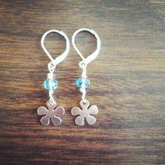 Tiny Flower Earrings925 Sterling Silver by MediterraneanWonders, $24.00
