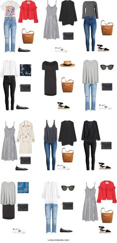 Packing list: 14 days in Stockholm, Sweden in Summer - What to wear: Outfit Options 1- livelovesara