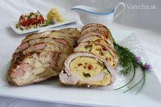 Mäsová roláda plnená omeletou (fotorecept) Pecan Pralines, Meatloaf, Appetizers, Food And Drink, Treats, Chicken, Menu, Recipes, Foods