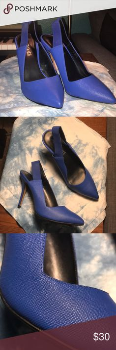Aldo Size 8.5 Electric Blue Sling-back Pumps Cool, Electric Blue Slingback Pump Heels! Worn once and are in excellent condition! Aldo Shoes Heels