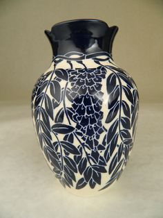 Wisteria Vase by potter Ken Tracy