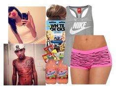 """""""Nite From Me Ndd My Guy!!! ~ASIA<3"""" by poohpooh-cmxx ❤ liked on Polyvore featuring GHETTO FAB, NIKE and Candie's"""