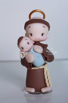 Polymer Clay Projects, Polymer Clay Creations, Cute Wallpaper Backgrounds, Cute Wallpapers, Doll Storage, Catholic Kids, Cute Clay, Baby Shower Cookies, Fondant Figures