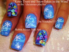 Nail-art by Robin Moses - Retro Christmas