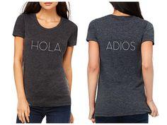b1cef0255451 Cinco de Mayo Shirt HOLA ADIOS Shirt for Women by SayWhatDesign Diy  Clothes