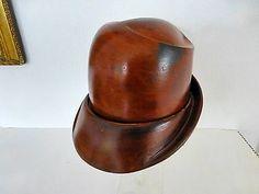STYLISH vintage wooden 2-pieced  HAT BLOCK / form mould, Hutform, form chapeau