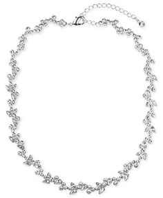 Givenchy Necklace, Silver-Tone Crystal