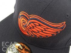 a6038a8dd5f  WDET is loving this  Detroit Tigers orange  Redwings hat! Detroit Red Wings