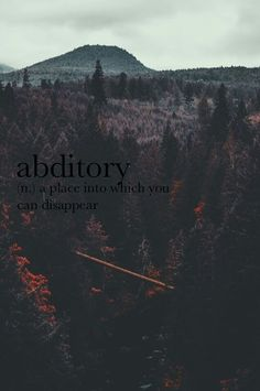 Abditory, in other words my room