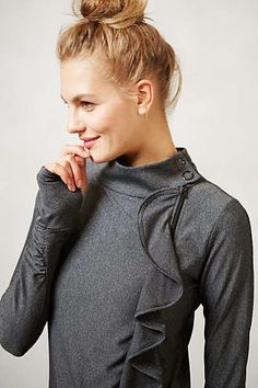 #anthrofave :: Pure + Good Striped Ruffle Jacket, perfect for post-yoga!