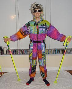 Retro Ski Man SnowMachine