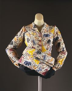 1940s wartime rationing blouse and handbag - SO clever! Vintage Elsa Schiaparelli ..naturally