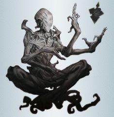 Concept de Eldrazi, criaturas provindas do vácuo , entidades do universo de Magic the Gathering