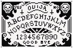 gridded version of this ouiji board sprite for corss stitch chart