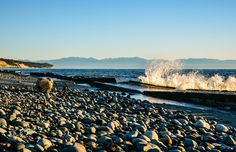 Shades of Blue - West Beach on Oak Harbor, WA just before sunset. Lauren Lyons Photography.