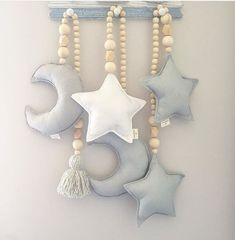 Wooden Bead and Star Love Tassel Nursery Canopy Tent Decorations Star Mobile Baby Nursery Design Baby Crib Decoration Photo Prop Beaded Garland, Beaded Ornaments, Hanging Ornaments, Baby Decoration, Tent Decorations, Beautiful Decoration, Moon Pillow, Baby Room Colors, Bed Tent