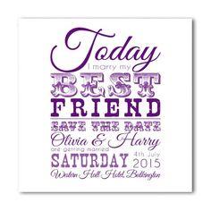 My Best Friend Save The Date - Purple
