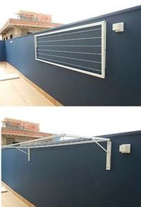 Drying clothes is always a problem for us, living in small spaces d … - Kleidung Ideen Laundry Rack, Laundry Drying, Clothes Drying Racks, Laundry Room Design, Backyard Patio, Outdoor Patios, Patio Wall, Outdoor Spaces, Dining Room Table