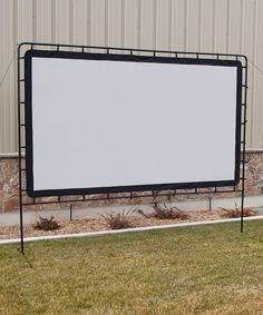 Diy outdoor home theater screen