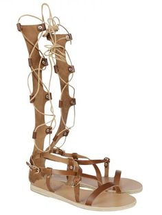 ANCIENT GREEK SANDALS Ancient Greek Sandals Sofia High Gladiator Lace-Up Sandals. #ancientgreeksandals #shoes #ancient-greek-sandals-sofia-high-gladiator-lace-sa