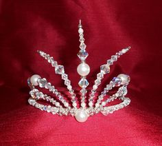White Russian Tiara with White Pearls and by epochbeadsUK on Etsy, £40.00