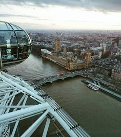 View of the Palace of Westminster with the London Eye