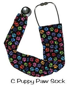 surgicalcaps.com @ designer Stethoscope Sock Color Puppy Paws with Colorful Quality and Comfortable Design - $8 usd