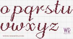 Blog do Wagner Reis: Alfabeto minúsculo CHIQUE para ponto cruz (Gráfico)