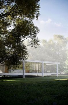 Built by the great German architect Ludwig Mies van der Rohe between 1946 and 1951 for Dr. Edith Farnsworth in Plano, Illinois, Farnsworth House was intended as a weekend escape.  The house is designed as a glass box immersed in the woods and suspended slightly above ground level on slender steel pillars.  The house has been described as sublime, a temple hovering between heaven and earth, a poem, a work of art.  Not too shabby for a weekender.