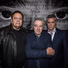 Goodfellas screened at the Tribeca Film Festival, celebrating its 25th anniversary.  In the pic: Paul Sorvino, Robert De Niro, and Ray Liotta.