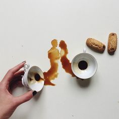 For Giulia Bernardelli, Spilling Food is not an Accident, it's Art. l #coffeeart