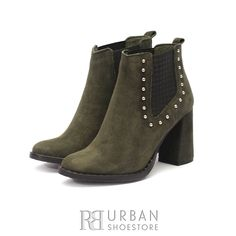 Botine casual din piele intoarsa - 192 Verde Velur Booty, Casual, Shoes, Fashion, Green, Moda, Swag, Zapatos, Shoes Outlet
