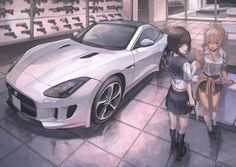 Tagged with anime, anime girl; Anime Girl Short Hair, Anime Art Girl, Anime Girls, Original Anime, Fille Anime Cool, Girls Driving, Anime Military, Car Drawings, Beautiful Anime Girl