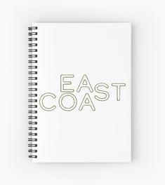 ' Spiral Notebook by damanarora Notebooks, Journals, Notebook Design, East Coast, Spiral, Cool Designs, Graphic Tees, Canvas Prints, Cool Stuff