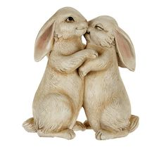 """Need some bunny to love? These too-cute cuddlers will add a bit of """"hoppiness"""" to your garden, porch, or living room. Garden Statues, Garden Sculpture, Lion Sculpture, Rabbit Garden, William Morris, Hearth, Snuggles, Qvc, Bunny"""