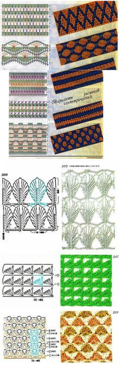 various crochet stitches!