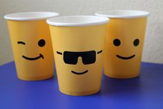 Smiley face cups
