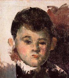 Portrait of the Artist's Son (unfinished) Paul Cézanne - 1877-1878