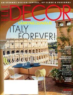 Elle Decor Magazine, Rome, Mystery, Magazine Titles, Fantasy Rooms, Capri, Milan Design, Showcase Design, Town And Country