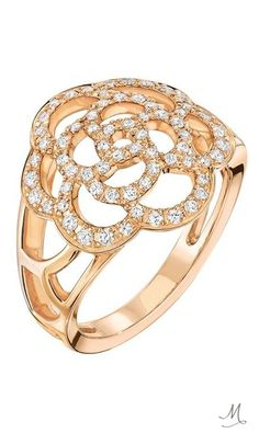 CHANEL'S SHOOTING STAR HERALDS A NEW JEWELLERY COLLECTION | Chanel Camélia ring in rose gold and diamonds