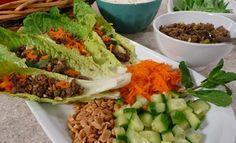 Asian Mushroom Lettuce Wraps