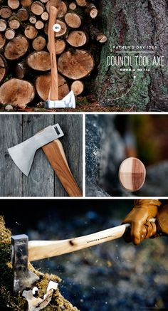 father's day ideas wood and metal council tool velvicut axe with hickory handle