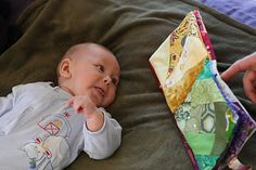 Color book for babies. The book idea would be really cute with busy patterns to make an Ispy quiet book!