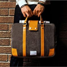 The Hamptons is perfectly constructed to carry your daily work essentials. The leather handle and cover ensures its durability. This bag not only fits a 15' laptop, but its multiple compartments can also hold all your notebooks, binders, and tablet. You can carry Hamptons in two ways: by the handle or removable shoulder strap. A zip down side pocket allows you to easily slip in documents on the go. The flip leather cover ensures secure closure. Top-Grade Quanta Fabric. Real leather Water and…