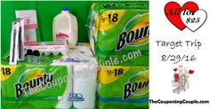 Our Target Shopping Trip 8-29-16 ~ Paper Towels, Milk & MORE! Click the Picture below to get the FULL DETAILED BREAKDOWN including all coupons used ► http://www.thecouponingcouple.com/target-shopping-trip-8-29-16/  Use the SHARE button below the Picture to SHARE this Deal with your Family and Friends!  #Coupons #Couponing #CouponCommunity  Visit us at http://www.thecouponingcouple.com for more great posts!